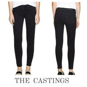 Aritzia THE CASTINGS Mid Rise Skinny Ankle Jeans